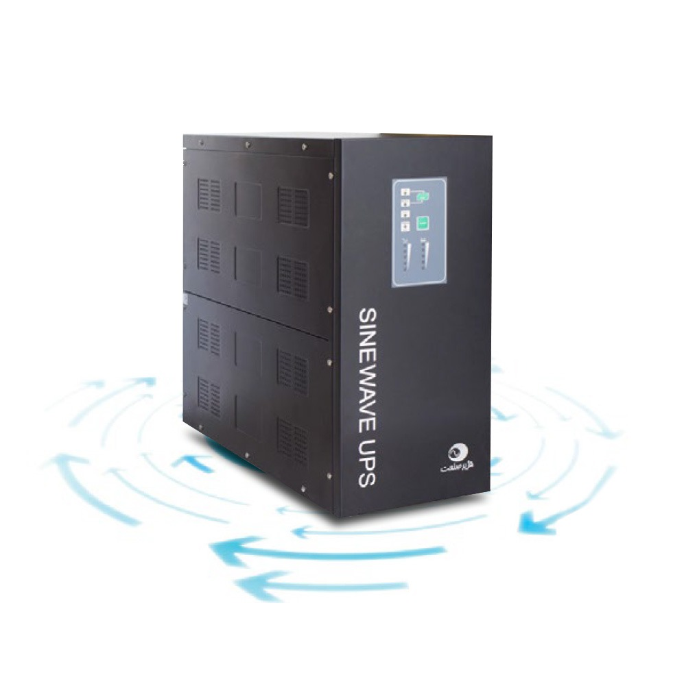 دستگاه یوپی اس لاین اینتر اکتیو با باتری بیرونی : ( با شکل موج سینوسی کامل و استابلایزر )