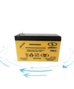 خرید باتری 12 ولت 7.5 آمپر ساعت برند صبا باتری