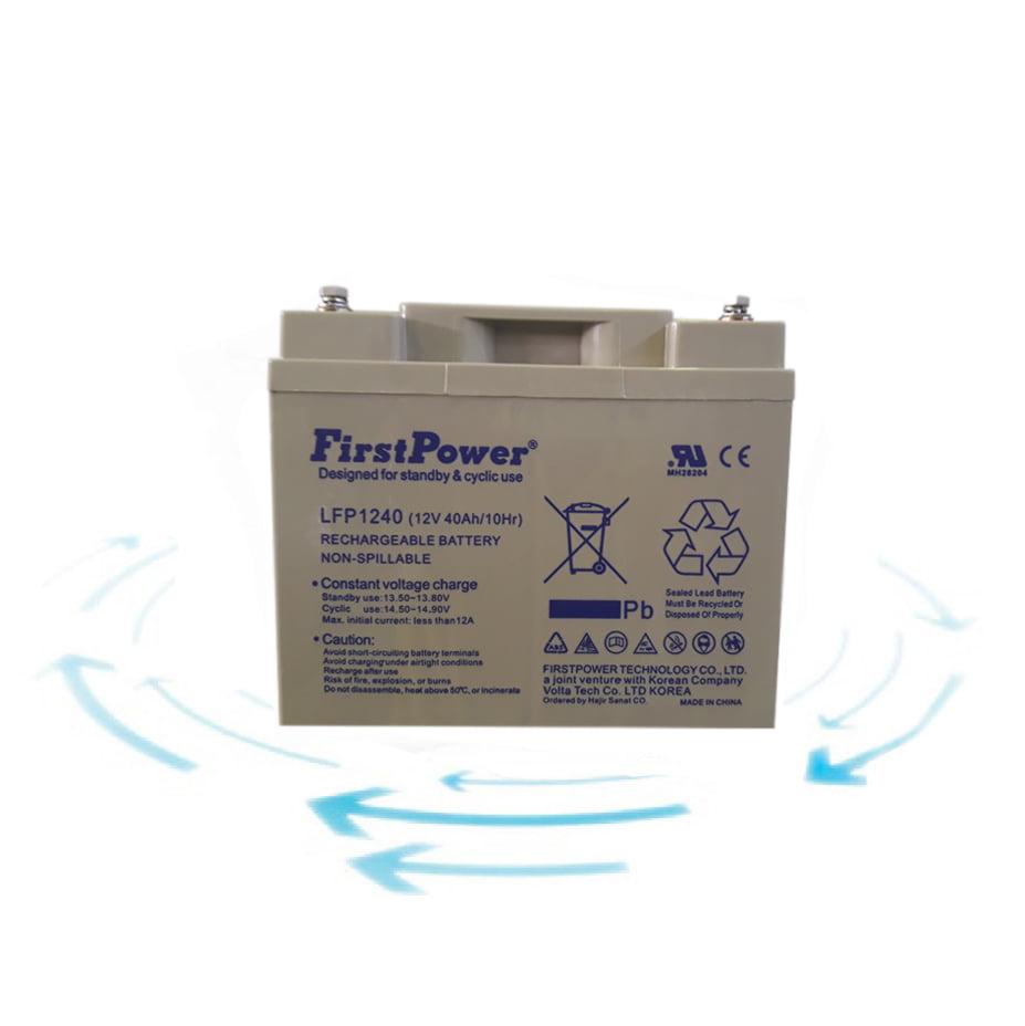 خرید باتری 12 ولت 40 آمپر ساعت برند First Power