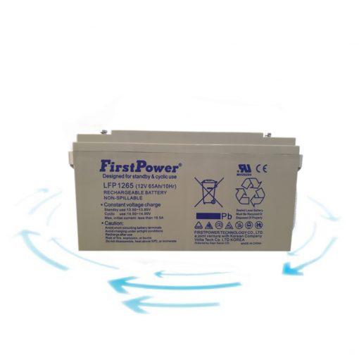 خرید باتری 12 ولت 65 آمپر ساعت برند First Power