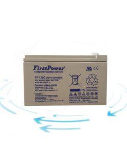 خرید باتری 12 ولت 9 آمپر ساعت برند First Power