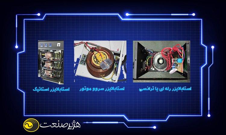 استابلایزر فقط ولتاژ را تغییر می دهد